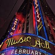 Radio City Music Hall Poster by Benjamin Matthijs