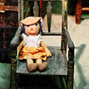 Rag Doll In Chair Poster