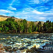 Raging River Poster by Robert Bales