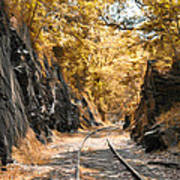 Rail Road Cut Poster