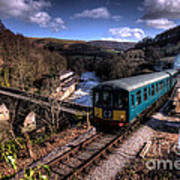 Railcar At Berwyn Poster