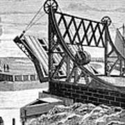Railroad Drawbridge, 19th Century Poster
