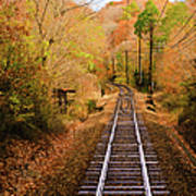 Railway Track Poster by (c) Eunkyung Katrien Park