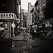 Rain - Pell Street - New York City Poster