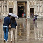 Rain In London Poster by Donald Davis