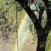 Rainbow At Victoria Falls Poster