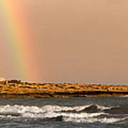 Rainbow By The Sea Poster by Stelios Kleanthous