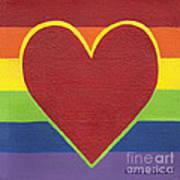 Rainbow Love Poster by Kristi L Randall