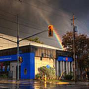 Rainbow On Bank Poster