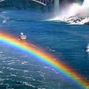 Rainbow On Niagara Falls Poster