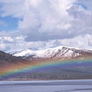 Rainbow Over A Lake Poster