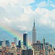 Rainbow Over Manhattan Poster