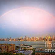 Rainbow Over New York City II Poster