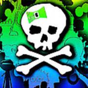 Rainbow Skull 2 Of 6 Poster