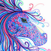 Rainbow Spotted Horse Poster