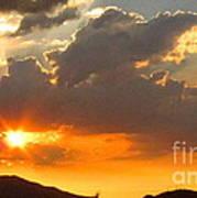 Rainey Sunset Poster