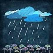 Rainy Day With Umbrella Poster by Setsiri Silapasuwanchai