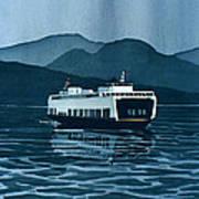 Rainy Ferry Poster by Scott Nelson