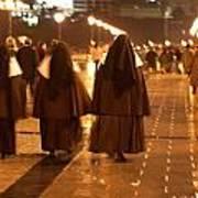 Rainy Night Nuns Poster