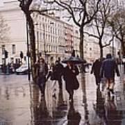 Rainy Sunday On Cromwell Road In London England Poster