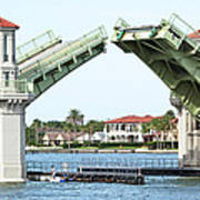 Raised Bridge Poster by Kenneth Albin