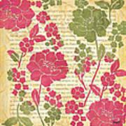 Raspberry Sorbet Floral 2 Poster