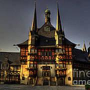 Rathaus At Wernigerode Poster