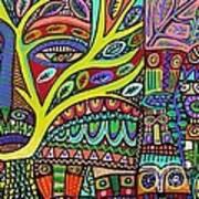 Raven Spirit Tree Totem Goddess Poster