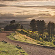 Rays Of Sunlight Over Clent Countryside Poster