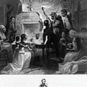 Reading Emancipation Proclamation Poster by Photo Researchers