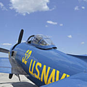 Rear View Of A F8f Bearcat Parked Poster
