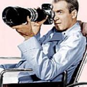 Rear Window, James Stewart, 1954 Poster
