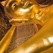 Reclining Buddha At Wat Pho, Low Angle Poster