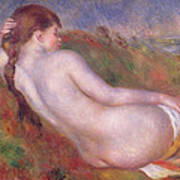 Reclining Nude In A Landscape Poster