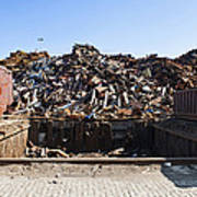 Recycle Dump Site Or Yard For Steel Poster
