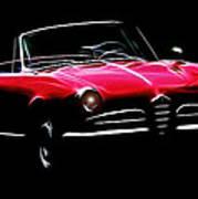 Red Alfa Romeo 1600 Giulia Spider Poster by Steve K