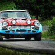 Red And Blue Fiat Abarth Poster