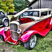 Red And White Chop Top Poster