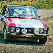 Red And White Lancia Poster