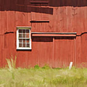Red Barn Of New Jersey Poster