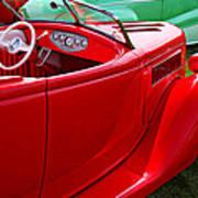 Red Beautiful Car Poster