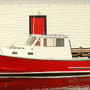 Red Boat Red Door Poster