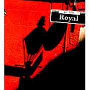 Red Building On Royal Street Poster