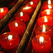 Red Candles Poster