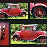 Red Car Poster by Lorraine Louwerse