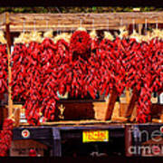 Red Chili Ristra Truck Poster