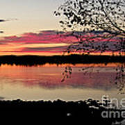 Red Evening Sky Poster
