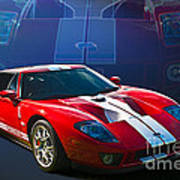 Red Ford Gt40 Poster
