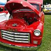Red Gmc Poster