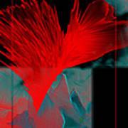 Red Heart Flower Poster